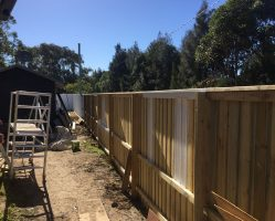 (During) Preparing the new timber fence