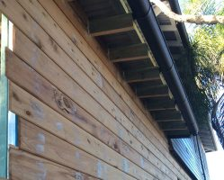 (During) Preparing the bare timber weatherboards