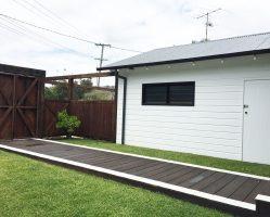 (After) Studio, boardwalk and timber fences complete.